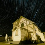 "One Hour Star Trails - During the Time of Lockdown. The Sky ""turns"", causing the star to trail during a long exposure"